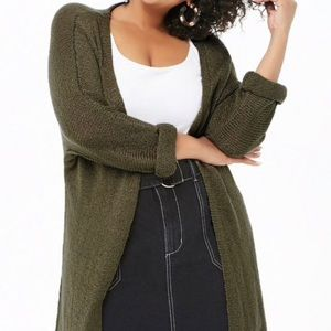 SALE Forever 21 Olive Green Duster Sweater